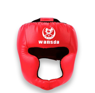 Kick Boxing Training Headguard Helmet (Red)