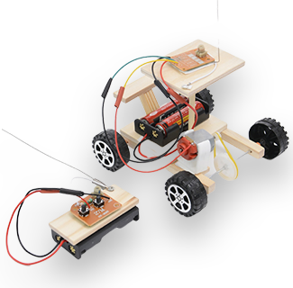 Wooden Science Experiment Remote Control Car