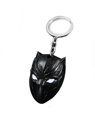Black Panther Mask Keychain