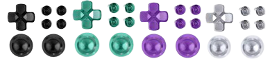 PS4 Controller Aluminium Replacement Buttons (Black/Green/Purple/Silver)
