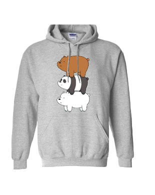 We Bare Bears Unisex Cotton Hoodie Sweater H55
