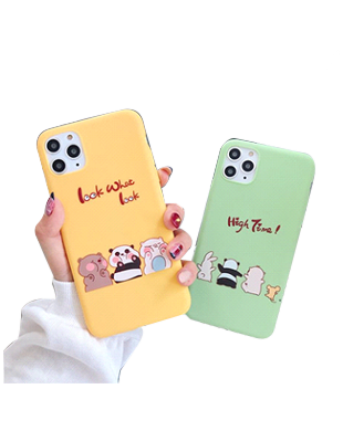 We Bare Bears Macaron Candy Color Case for iPhone 11 Pro Max