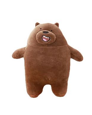 We Bare Bear Grizzly Plush Toy