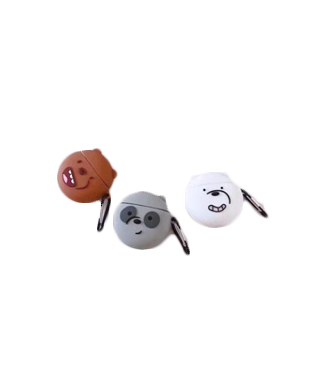 We Bare Bear Apple Airpods Shockproof Silicone Protection Case