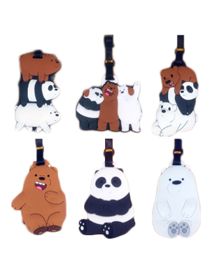 We Bare Bears Cute Silicone Luggage Tag