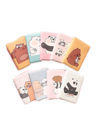 We Bare Bear Waterproof Passport Protective Cover