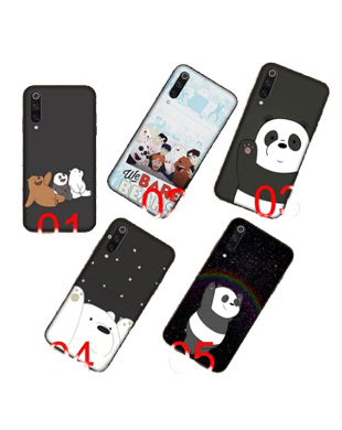 We Bare Bears Black Soft Case for Samsung Galaxy S10'Plus'e A10-A70