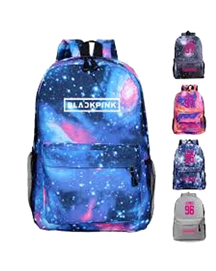 Blackpink Galaxy Design Backpack with USB Charging Port